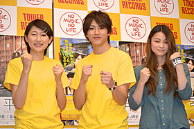 イベントに出席した(左から) 大野いと、山田裕貴、片平里菜「ライヴ」