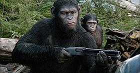 最先端のフルCGによる猿たちの繊細な表情は必見「猿の惑星」