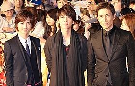 (左から)神木隆之介、佐藤健、伊勢谷友介「るろうに剣心」