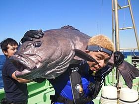 40キロの深海魚を釣り上げたロンブー亮