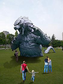 大都会・六本木にゴジラ出現 「MIDTOWN meets GODZILLA」イメージ図「ゴジラ」