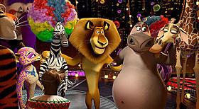 「マダガスカル3」の一場面「長ぐつをはいたネコ」