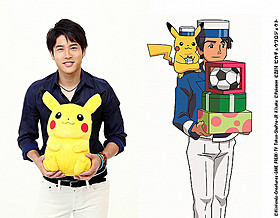 ポケモン映画で声優初挑戦 内田篤人選手(左)が声を担当するウッシー(右)「ピカチュウ、これなんのカギ?」