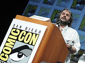 2012年のコミコンに出席したピーター・ジャクソン「ホビット 決戦のゆくえ」