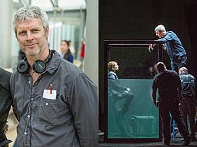 リアルな描写にこだわったニール・バーガー監督(左)、 撮影現場で打ち合わせを行うバーガー監督とウッドリー(右)「ダイバージェント」
