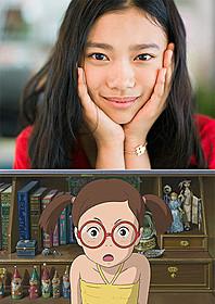 「思い出のマーニー」第3のヒロイン・彩香(下)と その声優を務めた杉咲花(上)「思い出のマーニー」