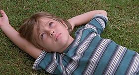メイソンを演じるエラー・コルトレーン。まだあどけない表情だ「6才のボクが、大人になるまで。」