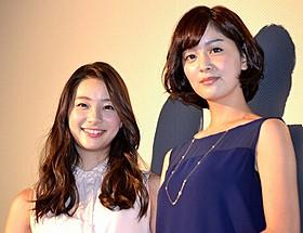 石橋杏奈(右)と足立梨花「トリハダ 劇場版2」