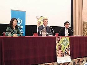「第9回UNHCR難民映画祭」会見の模様