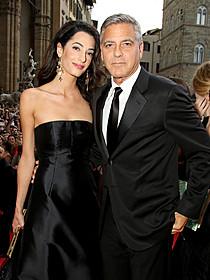 ジョージ・クルーニーと 婚約者のアマル・アラムディンさん