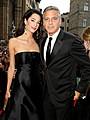 ジョージ・クルーニーと婚約者、初めてレッドカーペットに登場