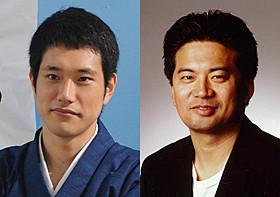 2011年12月に急逝した森田芳光監督(右)と 「の・ようなもの のようなもの」に主演する松山ケンイチ「の・ようなもの」