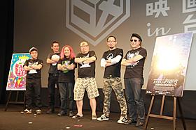 (左から)水道橋博士、てらさわホーク氏、高橋ヨシキ氏、杉作J太郎、 ギンティ小林氏、町山智浩氏「エクスペンダブルズ3 ワールドミッション」