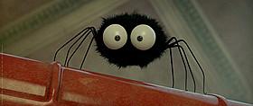 まっくろくろすけにそっくりな蜘蛛が登場「ミニスキュル 森の小さな仲間たち」