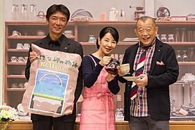 (左から)成島出監督、吉永小百合、笑福亭鶴瓶「ふしぎな岬の物語」