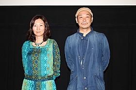 トークイベントに登壇した大森 立嗣監督(右)と原作者の三浦しをん氏「まほろ駅前狂騒曲」