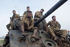 ティーガー戦車に立ち向かうことになるフューリー号の5人「フューリー」