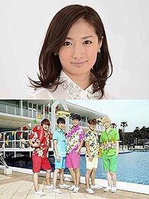 「原宿デニール」に主演する武田梨奈(上)とEE SHUFFLE「原宿デニール」