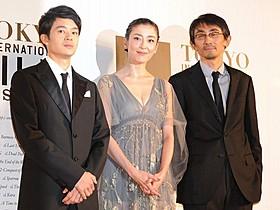 「紙の月」主演の宮沢りえ、池松壮亮(左)と吉田大八監督「MIRACLE デビクロくんの恋と魔法」