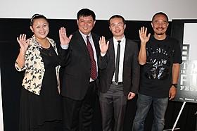 (左から)チャン・ミン、ファン・リー、 リー・ルイジン、リウ・ヨンホン
