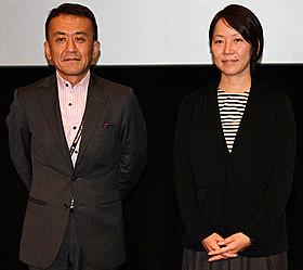 武部由実子プロデューサーと TIFFプログラミングディレクターの矢田部吉彦氏「箱入り息子の恋」