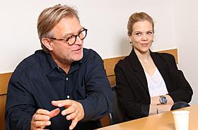 ベント・ハーメル監督と主演のアーネ・ダール・トルプ「キッチン・ストーリー」