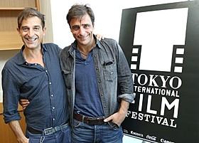 クラウディオ・ノーチェ監督(左)とアドリアーノ・ジャンニーニ「アイス・フォレスト」