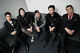 (左から)北村一輝、ギャレス・エバンス監督、 イコ・ウワイス、松田龍平、遠藤憲一「ザ・レイド」