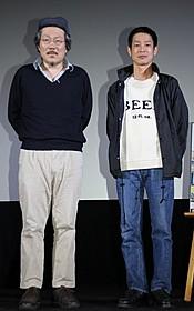 舞台挨拶に登壇した加瀬亮とホン・サンス監督「自由が丘で」