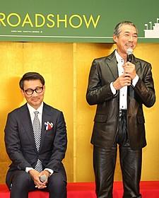 撮影を振り返る柳葉敏郎(右)と中井貴一「アゲイン 28年目の甲子園」
