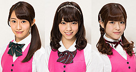 連続ドラマW「天使のナイフ」に出演する (左から)桜井玲香、西野七瀬、松村沙友理