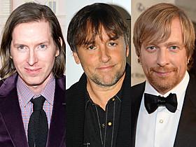 (左から)ウェス・アンダーソン監督、 リチャード・リンクレイター監督、モルテン・ティルドゥム監督「グランド・ブダペスト・ホテル」