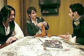シェアハウスにルールは付き物。 家事当番について話し合う場面(クレメントは一番左)「ヴァンパイア」