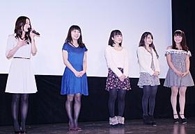 (右から)星名美津紀、新城玲香、西脇留菜、野村沙織、阿井莉沙「スリーデイボーイズ」