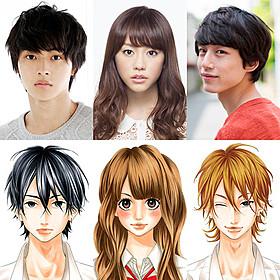 「ヒロイン失格」に主演する桐谷美玲 (中央)と山崎賢人(左)、坂口健太郎「ヒロイン失格」