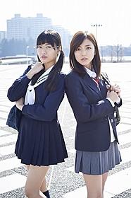 (左から)北原里英、真野恵里菜(撮影:岡本武志)「映画 みんな!エスパーだよ!」