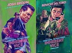 ジョシュ・ブローリンとベニチオ・デル・トロのビジュアル「インヒアレント・ヴァイス」