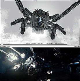「ジュピター」搭乗型機動兵器のコンセプトアート「ジュピター」