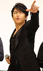ノリノリで舞台挨拶を盛り上げた及川光博「スーパーヒーロー大戦GP 仮面ライダー3号」