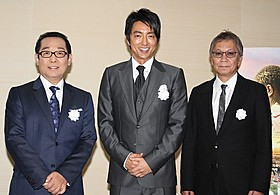 紀子さまと佳子さまのご高覧に同席した大沢たかお(中央)ら「風に立つライオン」