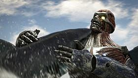 巨大ザメと巨人型兵器が激突「メガ・シャークVSグレート・タイタン」