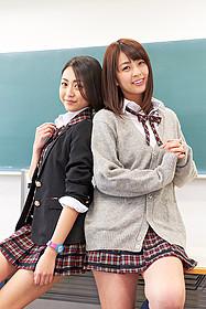 「呪怨 ザ・ファイナル」に出演している 松浦雅(左)と柳ゆり菜「呪怨」