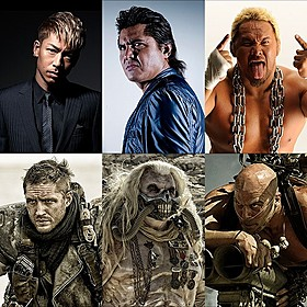 「マッドマックス」最新作で吹き替え声優を務める (左上から)AKIRA、竹内力、真壁刀義「マッドマックス」