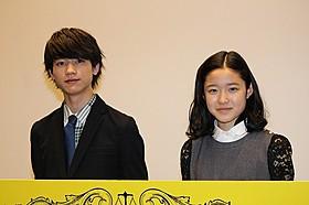 舞台挨拶に立った藤野涼子と板垣瑞生「ソロモンの偽証 後篇・裁判」