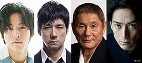 「劇場版MOZU」に出演する(左から) 松坂桃李、西島秀俊、ビートたけし、伊勢谷友介「劇場版 MOZU」