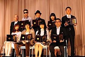 授賞式に登壇した二階堂ふみ、池松壮亮、武田梨奈ら「百円の恋」