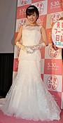 高橋真麻、ウエディングドレス姿でシングル宣言!将来の披露宴では「父泣かせる」