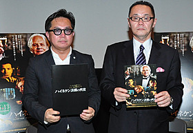 興味深いトークを展開した小川氏(右)と映画評論家の松崎健夫氏(左)「ハイネケン誘拐の代償」