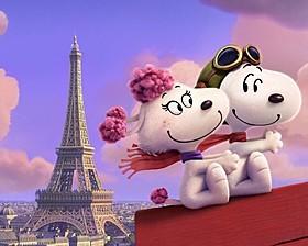愛らしいフィフィと空を舞うスヌーピー「I LOVE スヌーピー THE PEANUTS MOVIE」