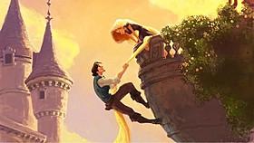 「塔の上のラプンツェル」の一場面「塔の上のラプンツェル」